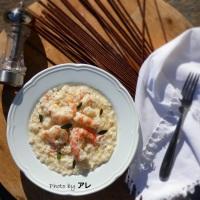 Risotto cremoso ai gamberi, zenzero, lemongrass e il bucato soffritto!